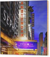 New Amsterdam Theatre Wood Print