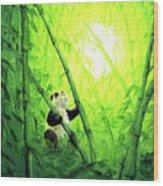 New Bamboo Leaves Wood Print