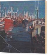 New Bedford Fishing Fleet Wood Print