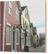 New Bedford Street Wood Print