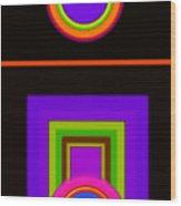 New Black Classic Wood Print