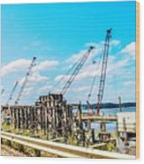 New Bridge For Canton Wood Print