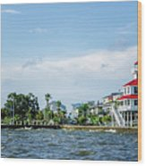 New Canal Lighthouse And Lakefront - Nola Wood Print