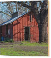 New Clairvaux Abbey Barn Wood Print