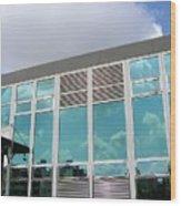 New Company Building Wood Print
