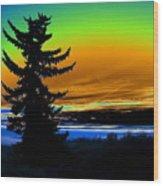 New Dawn In Spokane Wood Print