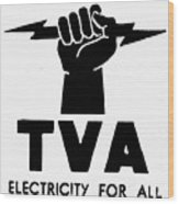 New Deal: Tva Symbol Wood Print