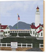 New Dungeness Lighthouse At Sequim Washington Wood Print