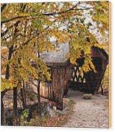 New England College No. 63 Covered Bridge  Wood Print