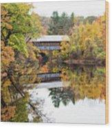 New England Covered Bridge No.63 Wood Print