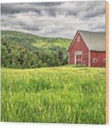 New England Farm Landscape Wood Print