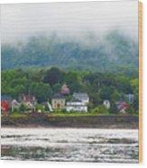 Granville Ferry Nova Scotia Canada  Fog Lifting Wood Print