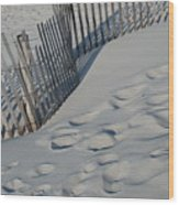 New England Footprints Wood Print