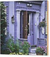New England Inn Wood Print