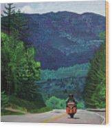New England Journeys - Motorcycle 2 Wood Print