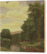 New England Landscape Wood Print