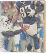 New England Patriots Rob Gronkowski 3 Wood Print