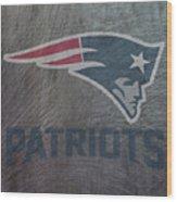 New England Patriots Translucent Steel Wood Print