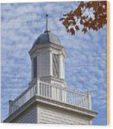 New England Steeple - Ridgefield, Connecticut Wood Print