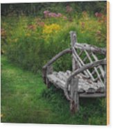 New England Summer Rustic Wood Print