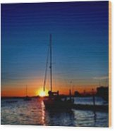 New England Sunset Wood Print