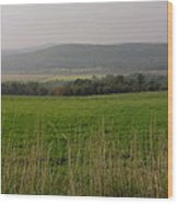 New England's Farmland Wood Print