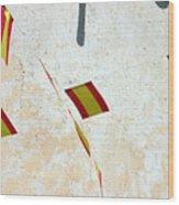 New Flags Wood Print