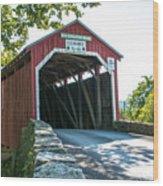 New Germantown Covered Bridge Wood Print
