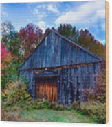 New Hampshire Barn Eaton Nh Wood Print