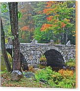 New Hampshire Bridge Wood Print