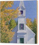 New Hampshire Church Wood Print