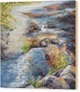 New Hampshire Creek In Fall Wood Print
