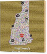 New Hampshire Loves Dogs Wood Print