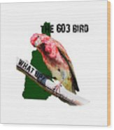 New Hampshire State Bird The Purple Finch Wood Print