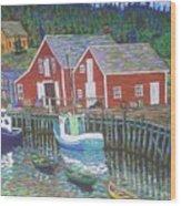 New Harbour  N.s. Wood Print