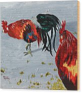 New Harmony Roosters Wood Print