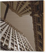 New Heights - Wrigley Building - Chicago Wood Print
