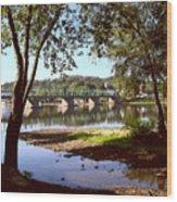New Hope Lambertville Bridge Wood Print