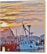 New Hope Sunrise - Sunken Ship At West Ocean City Harbor Wood Print