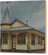 New Hope Train Station Wood Print