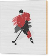 New Jersey Devils Player Shirt Wood Print
