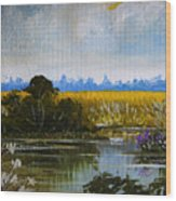 New Jersey Marsh Wood Print