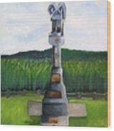 New Jersey Soldier At Monocacy Battlefield In Frederick Md. Wood Print