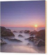 New Jersey Sunrise At Sea Girt Wood Print