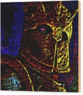 New Knight Of The King's Guard. Mask. Wood Print