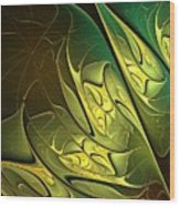 New Leaves Wood Print