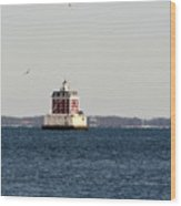 New London Lighthouse Wood Print