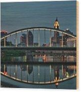 New Main Street Bridge At Dusk - Columbus, Ohio Wood Print