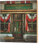 New Market General Store Wood Print