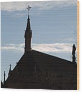 New Mexican Church Wood Print